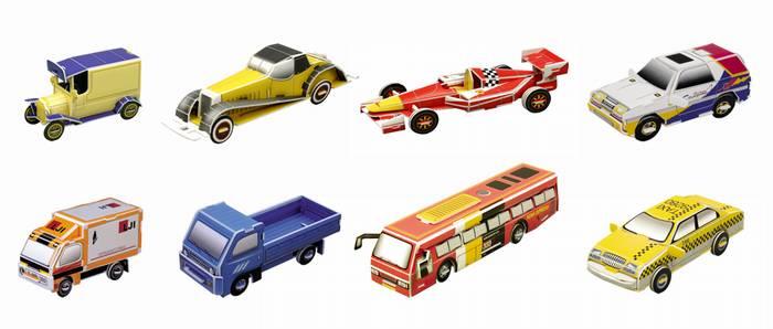 פאזל תלת מימד -סדרת מכוניות