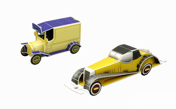 פאזל תלת מימד -מכוניות ישנה  & מכונית קופה