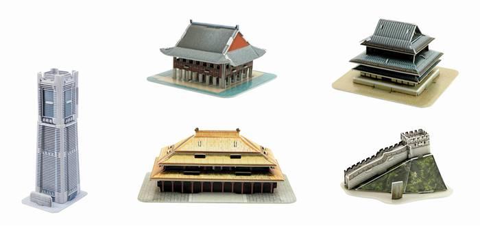 פאזל תלת מימד -מיני ארכיטקטורות  - סידרה 2