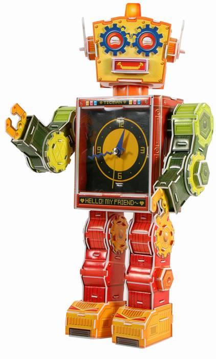 פאזל תלת מימד -רובוט עם שעון