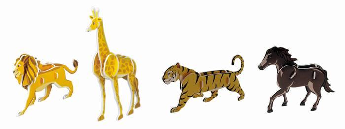 פאזל תלת מימד -סדרת חיות 1