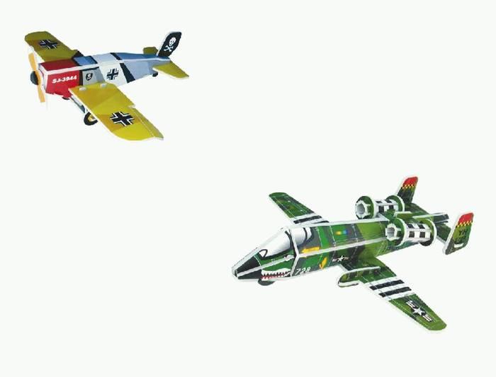 פאזל תלת מימד -מטוסים דגמים A&B