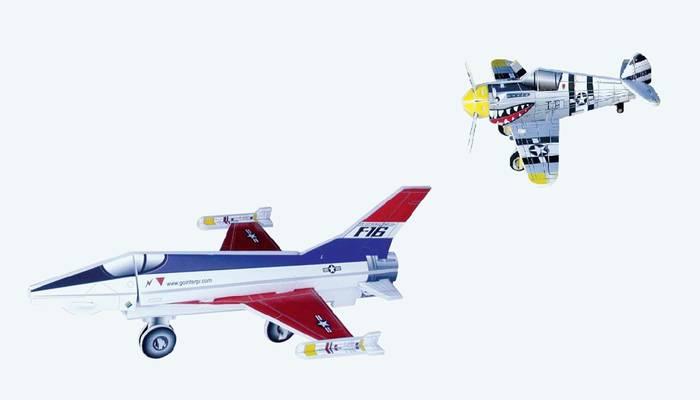 פאזל תלת מימד -מטוסים דגמים E&F