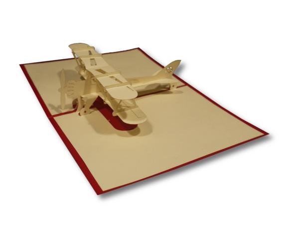 כרטיס ברכה תלת מימד - מטוס