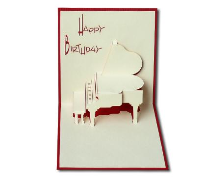 כרטיס ברכה תלת מימד - פסנתר