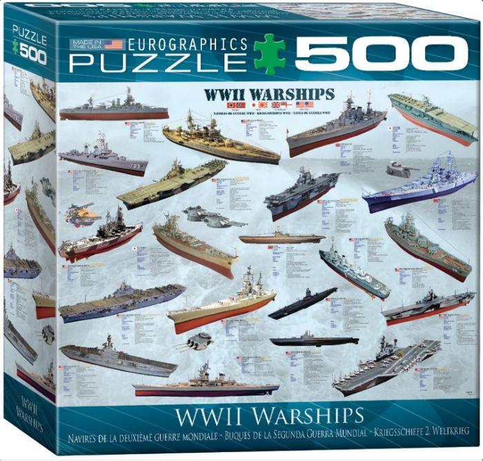 פאזל 500 חלקים - אוניות מלחמה