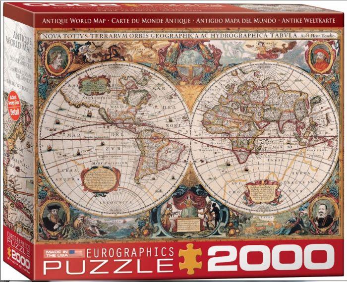 פאזל 2000 חלקים - מפת עולם עתיקה