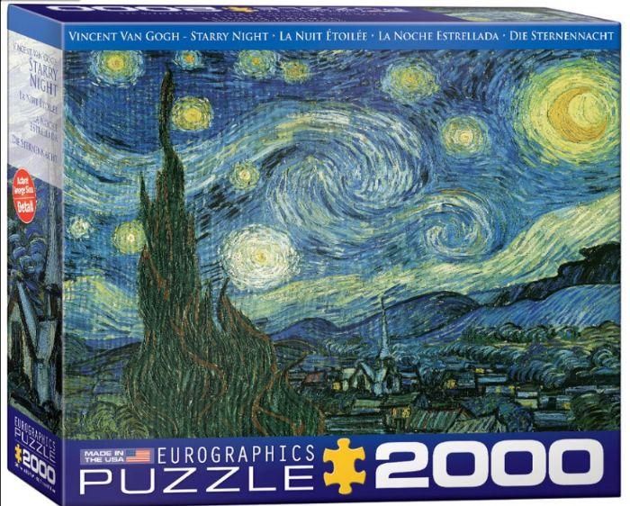 פאזל 2000 חלקים - ציורו של ואן גוך - סטרי נייטס