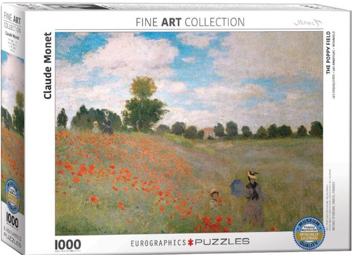 פאזל 1000 חלקים - ציור של מונה - דה פופי פילד