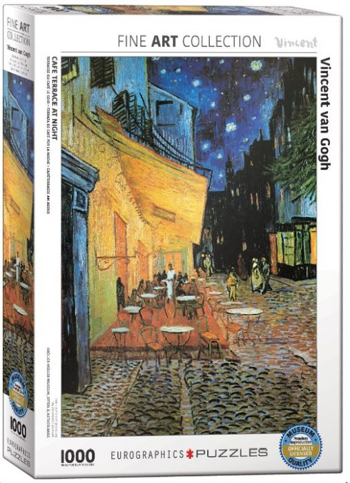 פאזל 1000 חלקים - ציור ואן גוך - קפה טרנס בלילה
