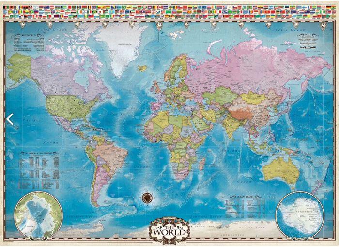 פאזל 1000 חלקים - מפת עולם