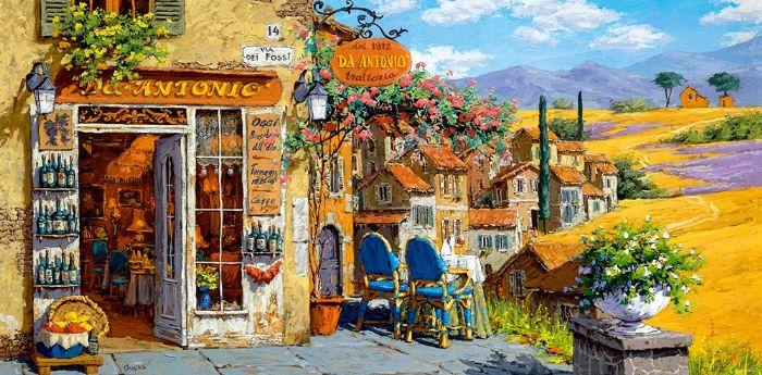 פאזל 4000 חלקים - צבעים של טוסקנה - איטליה