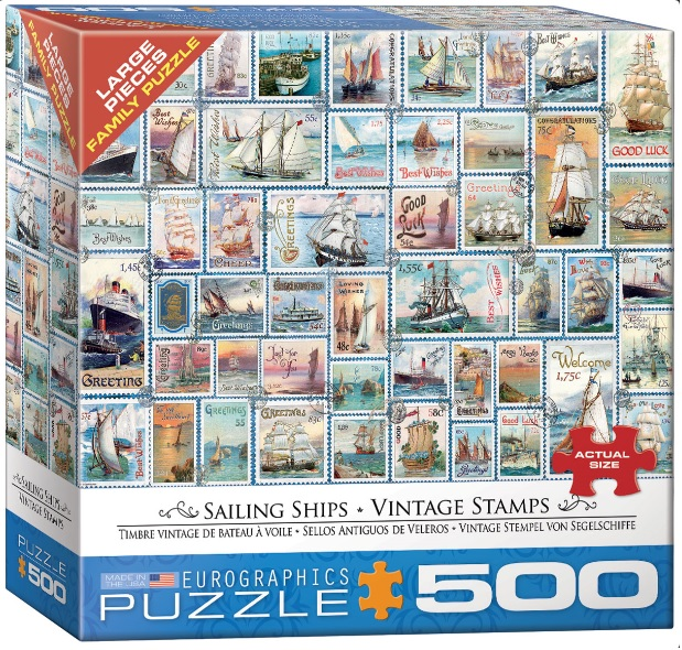 פאזל 500 חלקים - אוניות הפלגה