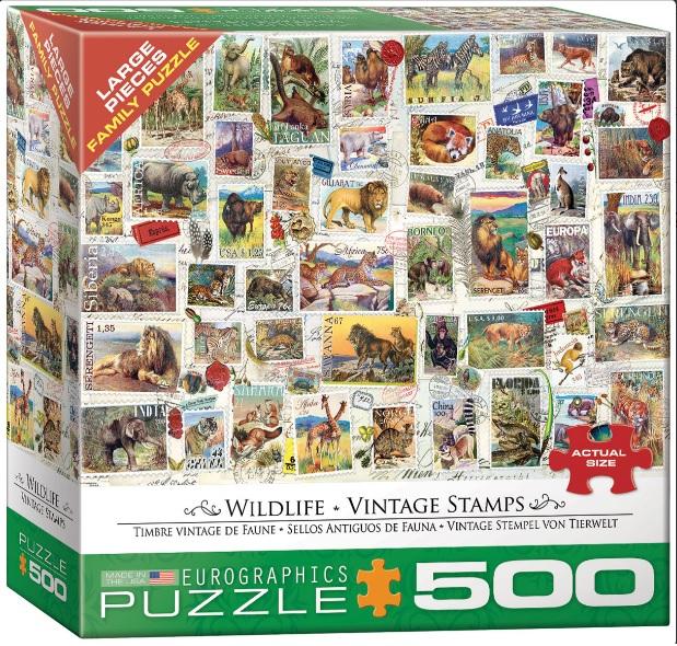 פאזל 500 חלקים - חיות פרא
