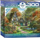 פאזל 300 חלקים - קוטג' עם ברבורים לבנים
