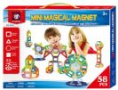 משחק מגנטים לילדים  58 חלקים עם בסיס קרוסלה גדולה