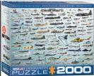 פאזל 2000 חלקים - אבולוציה של מטוסי מלחמה