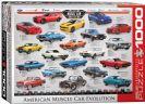 פאזל 1000 חלקים - אבולוציה של מכוניות אמריקאיות עוצמתיות