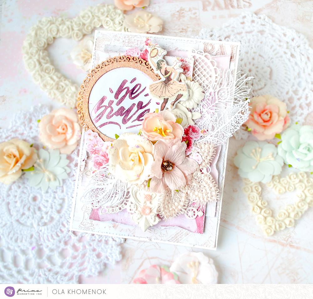כרטיס ברכה רומנטי אפרסק תכלת עדין