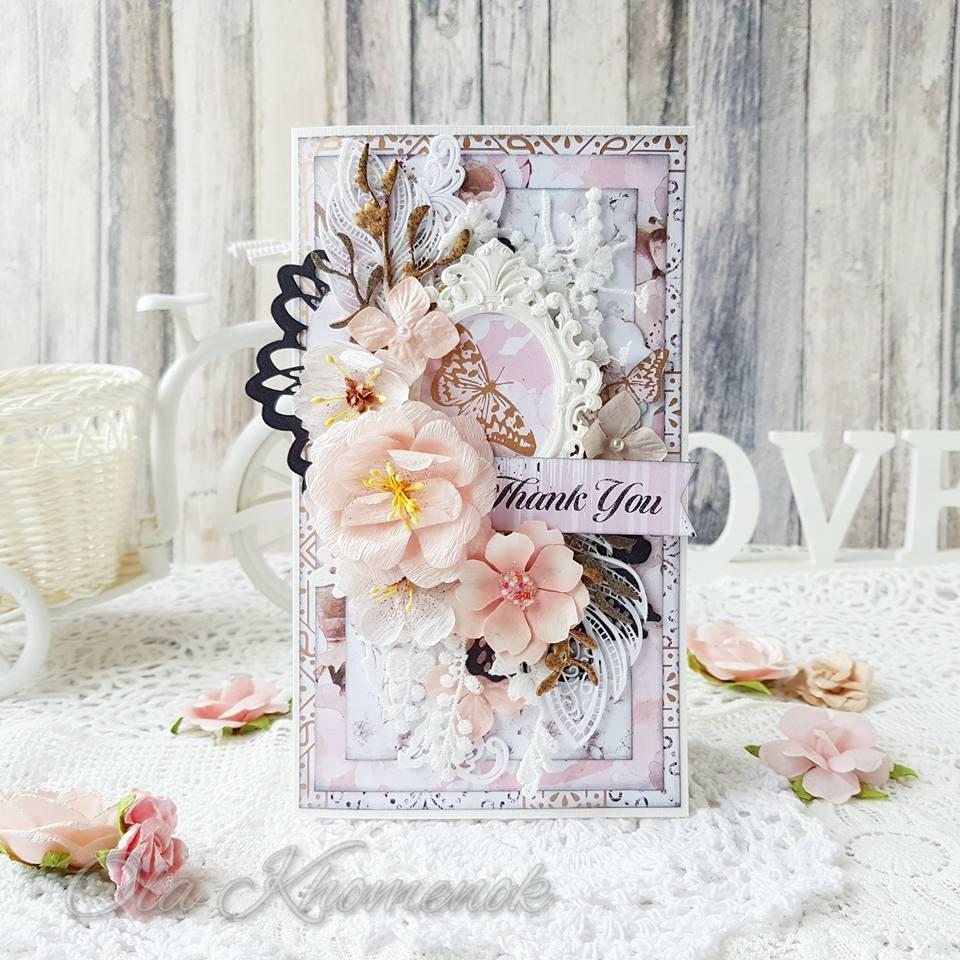 כרטיס ברכה רומנטי בוורוד מאוד עדין