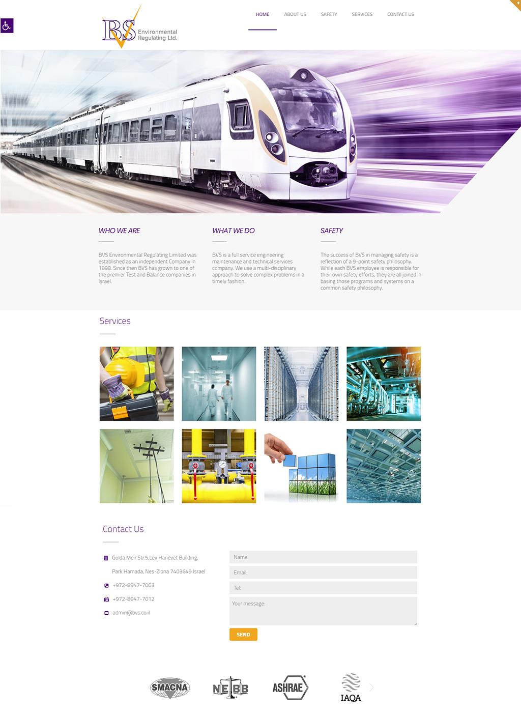 עיצוב ובניית אתר BVS