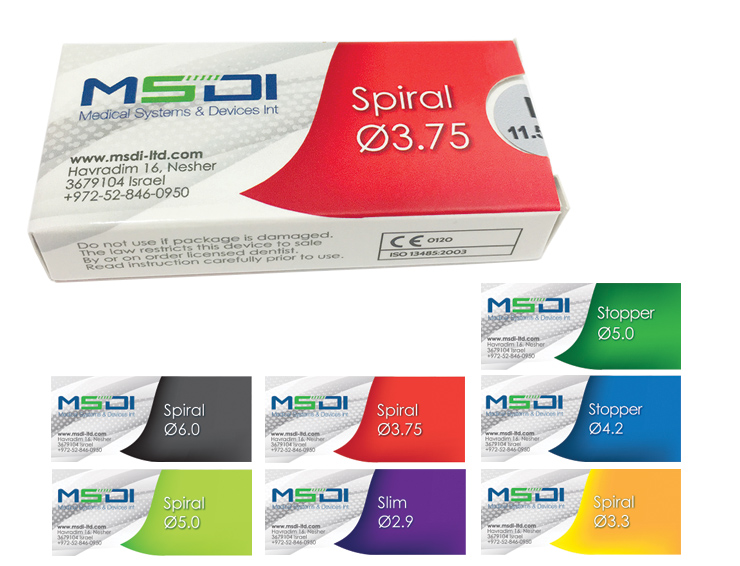 עיצוב אריזות קרטון למוצר רפואי - MSDI