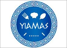 בניית מותג מזון YIAMAS בסגנון יווני