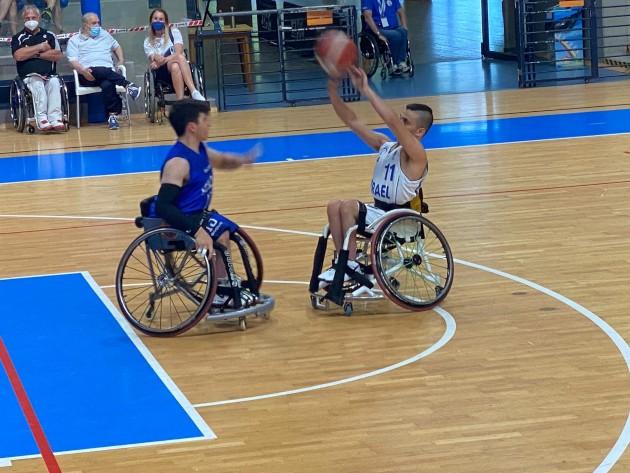 לראשונה בתולדותיה תשתתף הנבחרת הצעירה (עד 22) בכדורסל בכיסאות גלגלים באליפות העולם. צילום טל רם