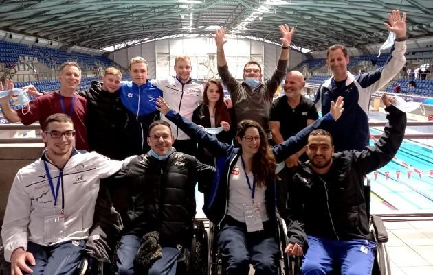 נבחרת השחייה בשפילד בריטניה. צילום באדיבות הוועד הפראלימפי