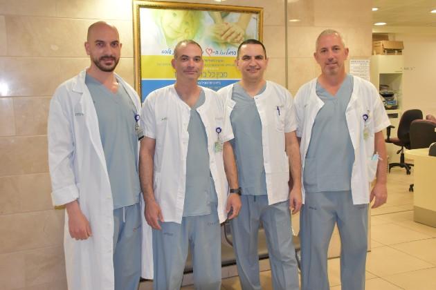 דר יובל קאופמן וצוות האנדומטריוזיס של כרמל ולין. צילום אלי דדון, מרכז רפואי כרמל