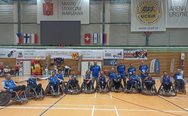 נבחרת הרוגבי הכיסאות גלגלים בפולין. צילום באדיבות ההתאחדות לספורט נכים