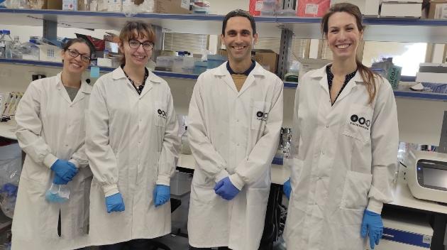 אורי בן דוד וצוות המעבדה, צילום באדיבות אוניברסיטת תל אביב