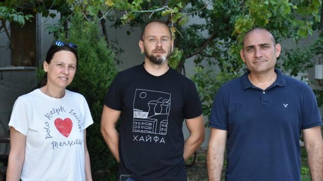 פרופ אריאל קפלן, דר סרגיי רודניצקי ופרופ פיליפה מלמד. צילום דוברות הטכניון