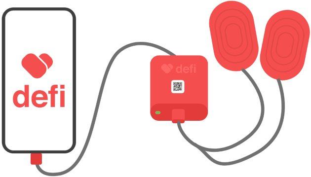 הקונספט הזוכה - Defi - דפיברילטור נייד הנטען ממכשיר הטלפון הנייד