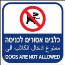 כלבים אסורים לכניסה