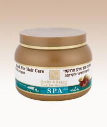 H&B mer morte - Masque capillaire à l'huile d'Aragan du Maroc pour cheveux secs et abimés