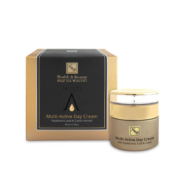 H&B mer morte - Crème de jour multi-active à l'acide hyaluronique et à l'extrait de caviar