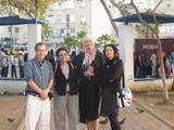 "Gan Levinsky T-A with Eilat and journalist Allan גן לוינסקי ת""א עם אילת ועתונאי אלן"