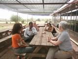 בחוות התבלינים עם רונית Participants at Spices Center with Ronit