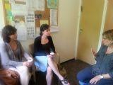 אליזבט ואמה בביקור בכפר תקוה                 Emma  and Elisabeth at Kfar Tikva