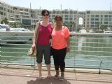 Elisabeth with Hadas in Herzelia Marina אליזבט והדס במרינה בהרצליה