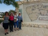 Photo by Nili: Participants Agneta, Bhavna, Salima and Barbara with Nili at Israel Museum
