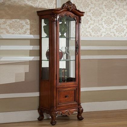 ויטרינה עץ/זכוכית לסלון - HST011