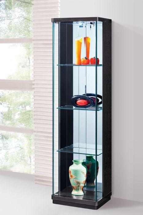 ויטרינה זכוכית מעוצבת - 625 שחור /לבן