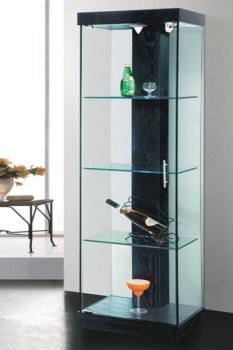 ויטרינה זכוכית מעוצבת - 302 שחור/ לבן