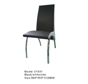 כסא לפינת אוכל - CY601 שחור / צד לבן
