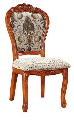 כסא לפינת אוכל מעץ מלא ללא ידיות 308A