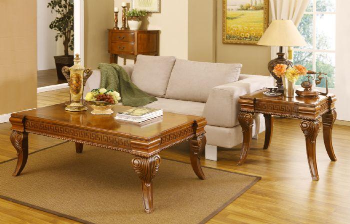 שולחן סלון מעץ מלא #B0702C