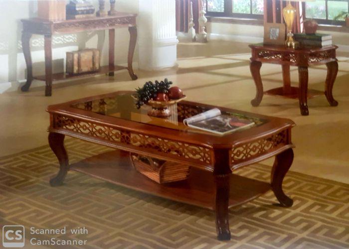שולחן סלון עץ מעוצב # HSC011