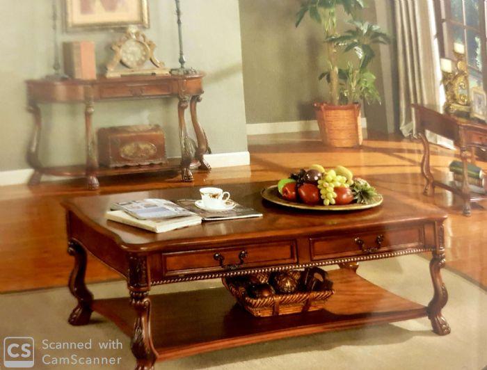 שולחן עץ לסלון #HSC010